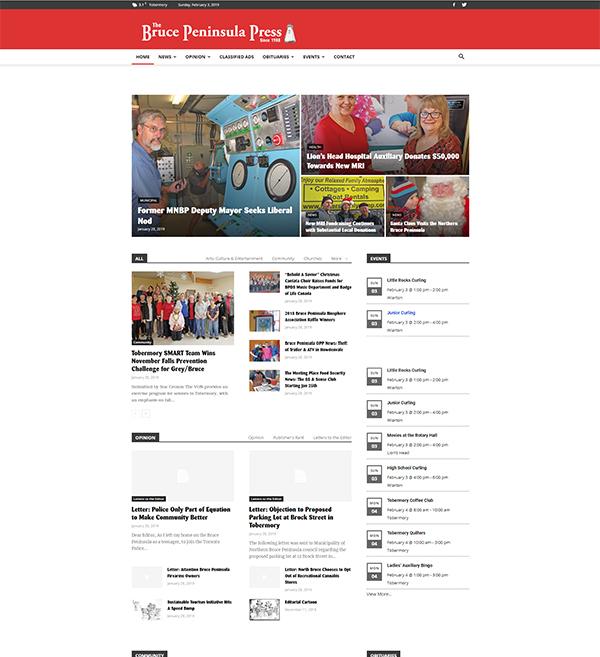 Bruce Peninsula Press Website