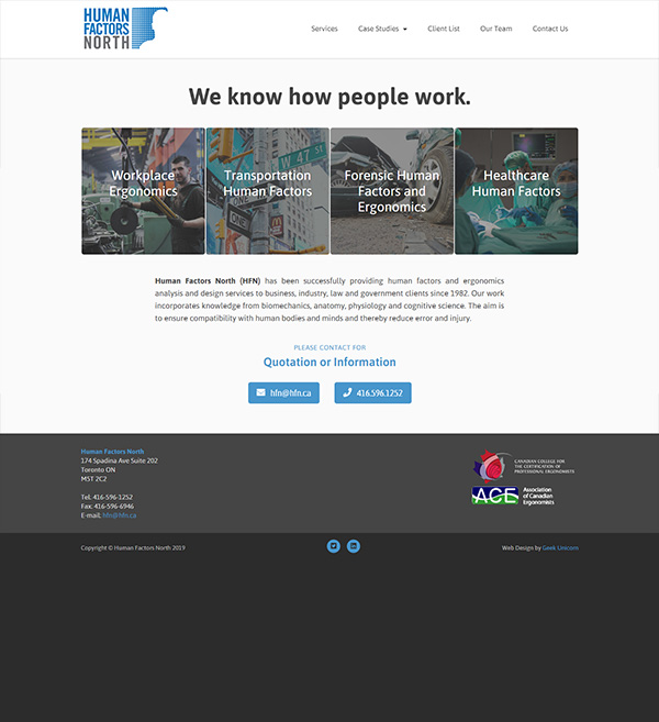 Human Factors North Website