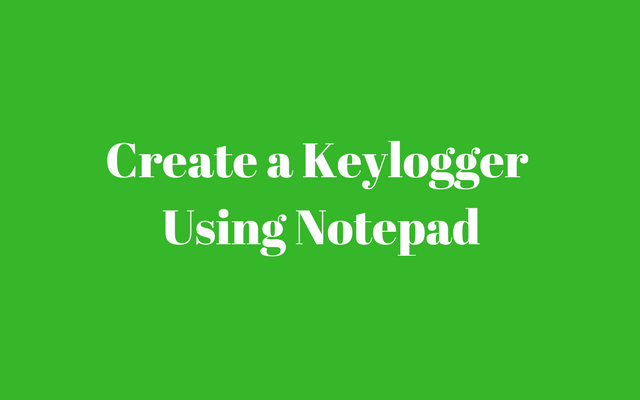 keylogger in notepad