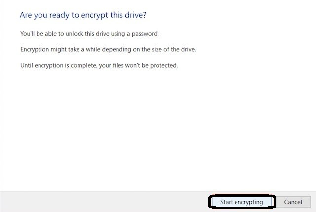 Password Protect External Hard Drive on Windows 10