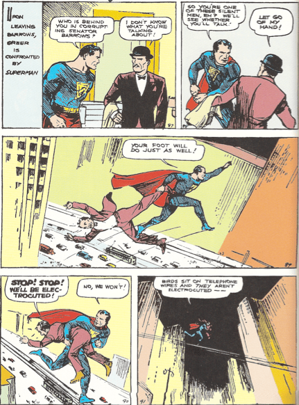 """Image from """"Action Comics"""" #1 written by Siegel and illustrated by Shuster."""
