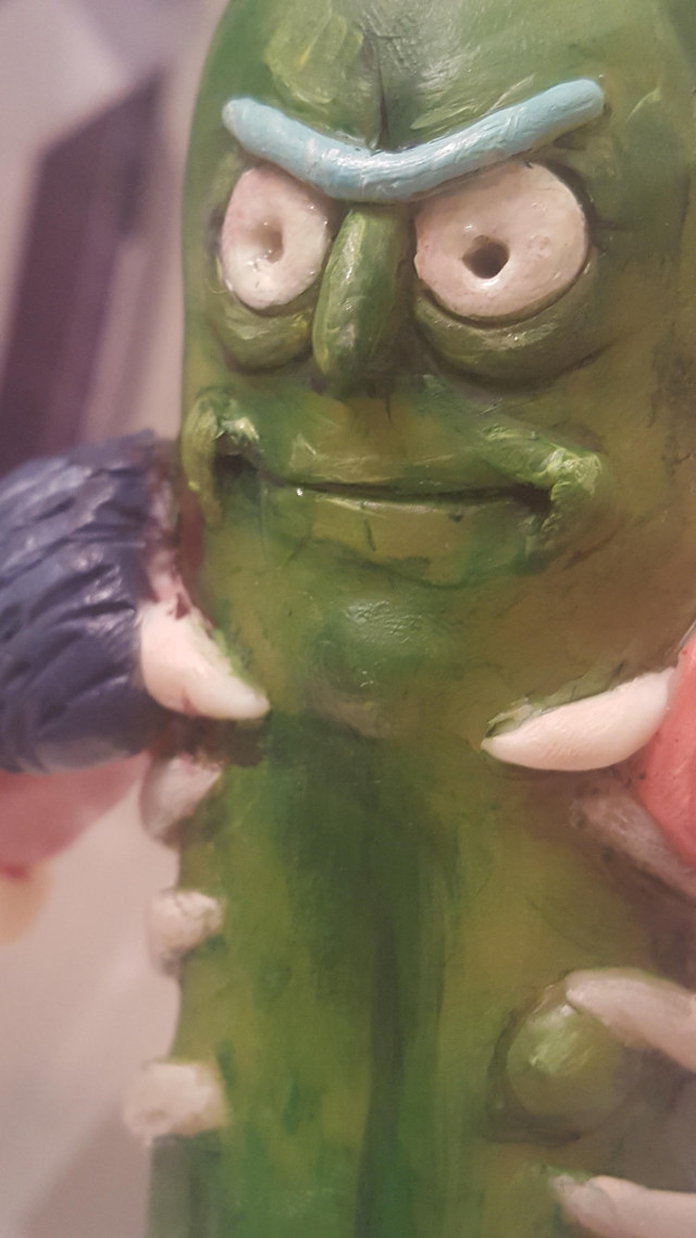 Couple Made A Life Size Pickle Rick From Rick And Morty