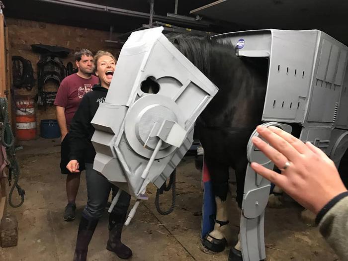 AT AT Star Wars Horse Cosplay