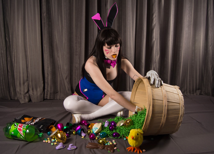 Easter Bunny Dva From Overwatch Cosplay