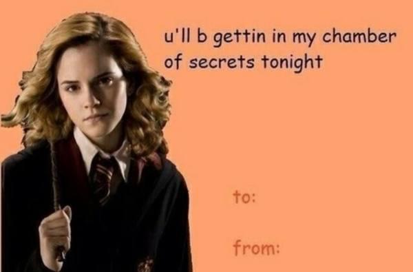 Harry Potter Valentines Cards