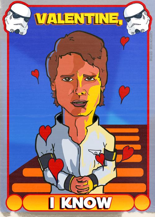 Han Solo Valentine card