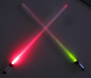 light saber knitting needles