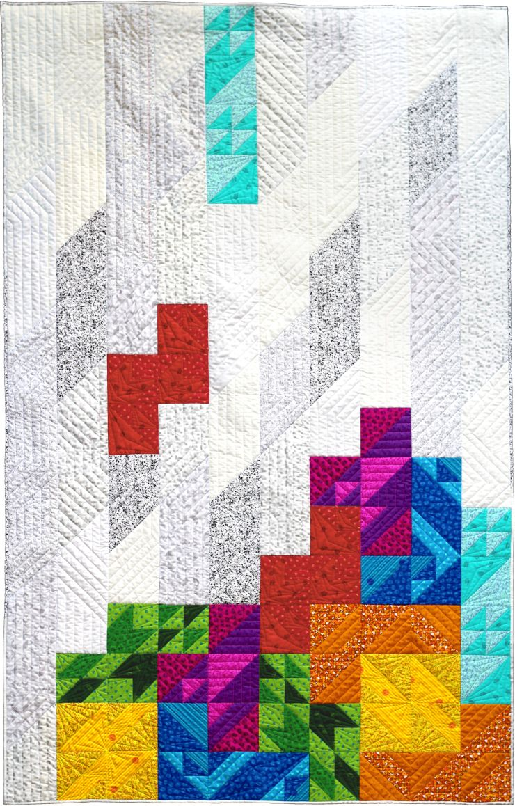 retro tetro quilt by geeky bobbin twin size