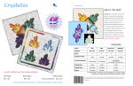 Crystalize quilt pattern by geeky bobbin