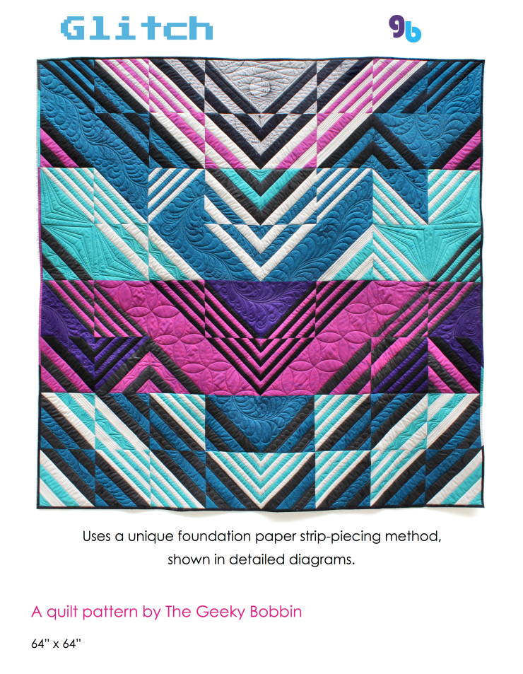 Glitch quilt pattern by geeky bobbin