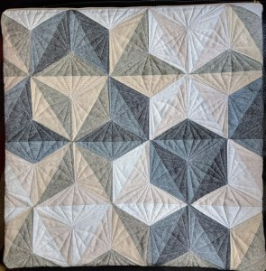intersectional mini quilt by geeky bobbin in Essex linen