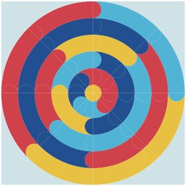 initial sketch of Orbital quilt by geeky bobbin