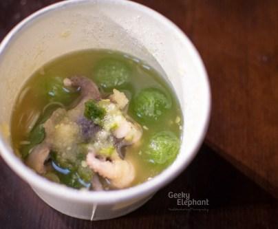 Savour 2015: Kiin Kiin—The Snowball… Cucumber & Squid Salad