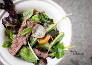 Savour 2015: Saint Pierre—Low temperature beef salad with black truffle dressing