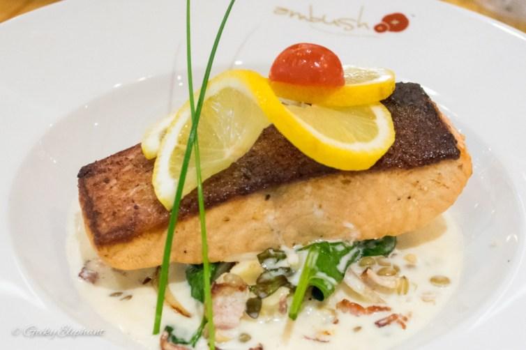 Ambush: Pan Seared Salmon & French Lentils