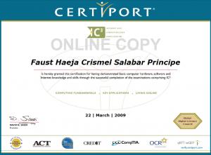 IC3 Certificate