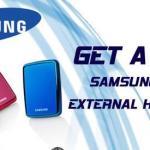 Promos: Free Samsung External Hard Drive