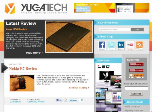 yugatech's new theme