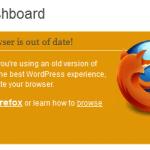WordPress 3.2 Dashboard informs Update to New Firefox
