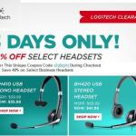 Logitech Offers 40% Off on Headsets