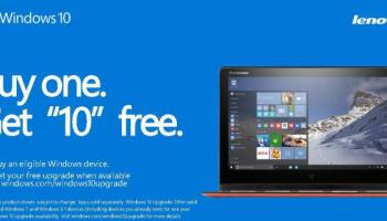Lenovo Windows 10 Buy One Free