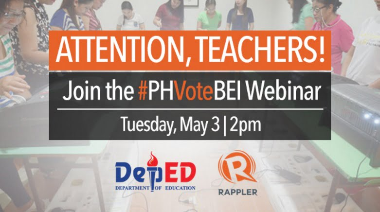Election training webinar for teachers, chairpersons and BEIs