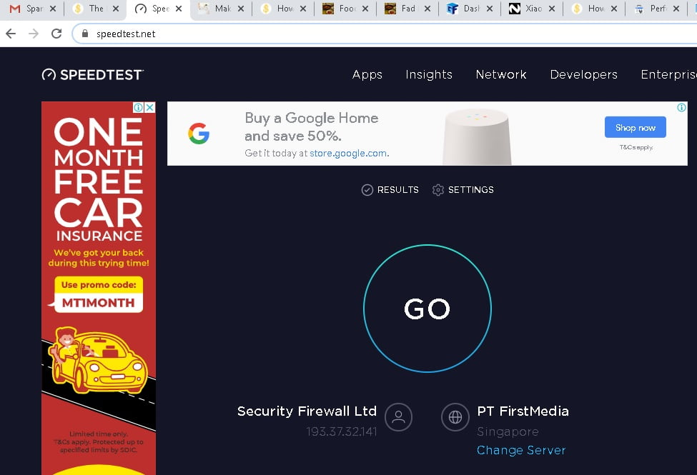 Speedtest Sun Broadband Internet now