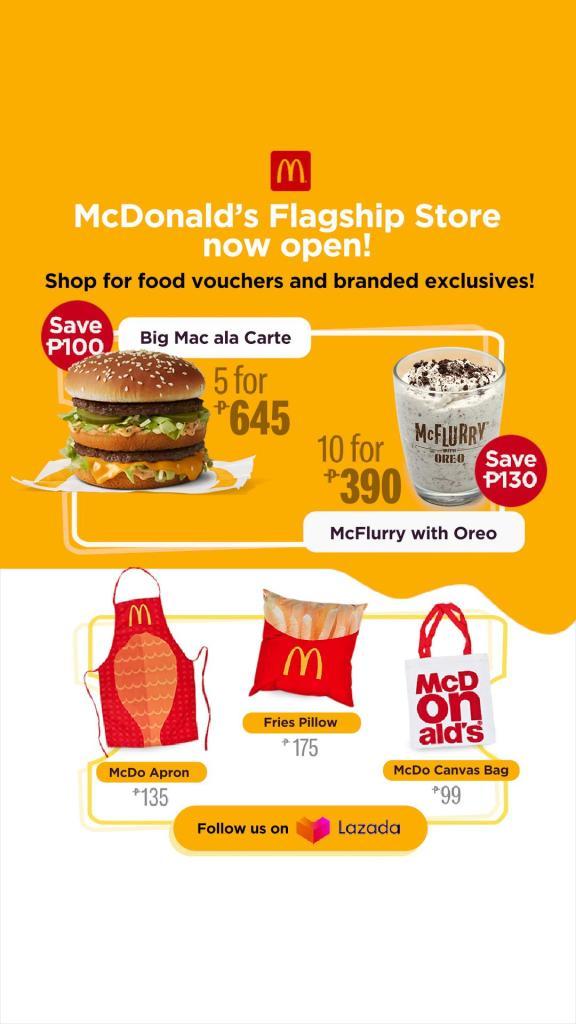Lazada Food Cart - Mcdonald's Delivery