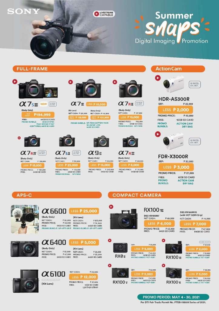 Sony Full Frame Cameras - Summer Gadget Deals