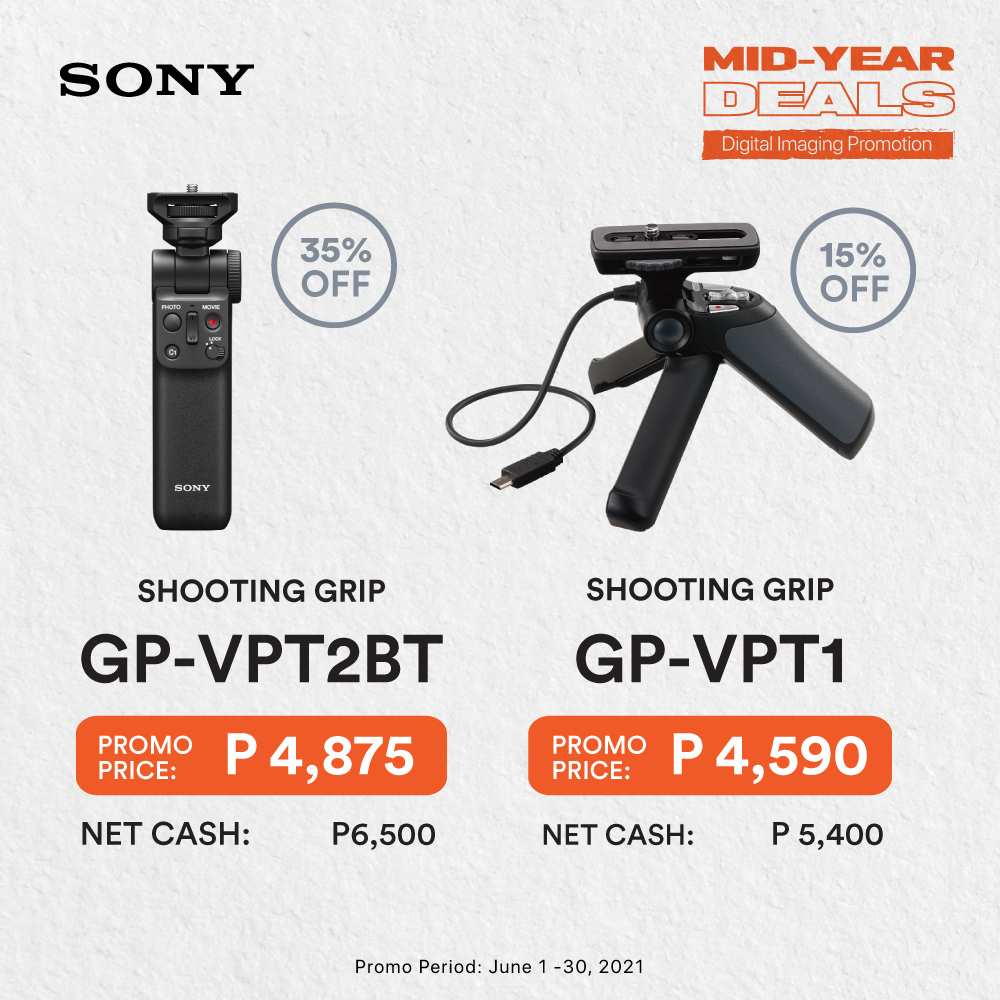 Sony Mid-Year Deals - Shooting Grip