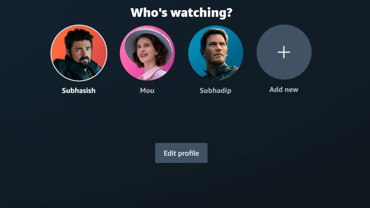 How can users Select Amazon Original profile images