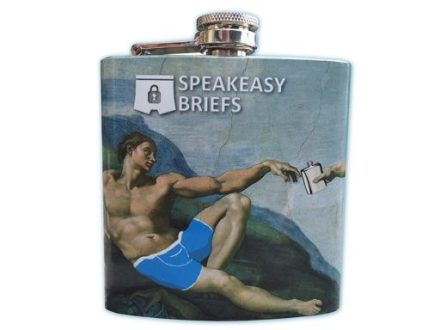 Stainless Steel Hip Flask by Speakeasy Briefs, cool gadgets to buy india from amazon