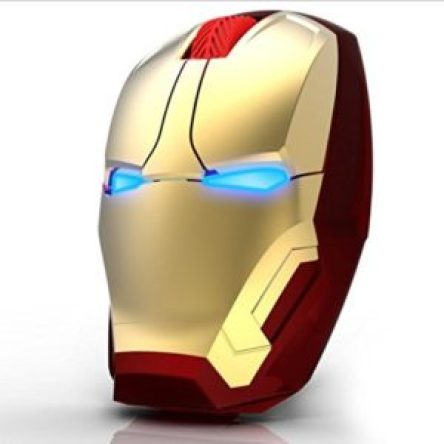 Iron Man 2.4G Wireless Gaming Mouse Silent Click 3 Adjustable DPI, gaming mouse online india