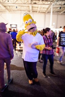 Homer Simpson cosplay at GAMEX / Comic Con 2014