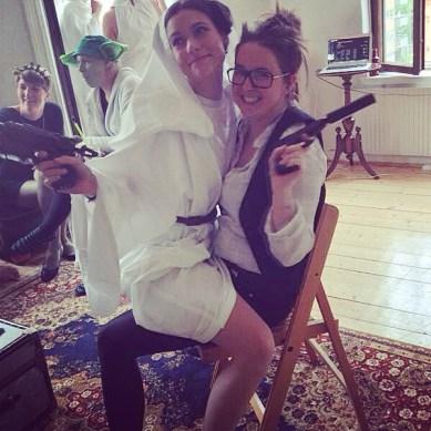 Heidi & Jinn as Leia & Han Solo from Star Wars