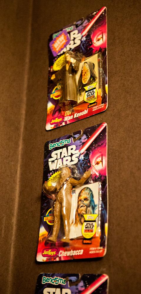 Star Wars Bend-Em toy Obi Wan Kenobi & Chewbacca