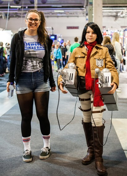 Attack on Titan cosplayer with Geeky Gals at Comic Con Malmö 2015