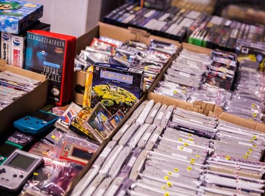 Games for sale at Retrospelsfestivalen 2015