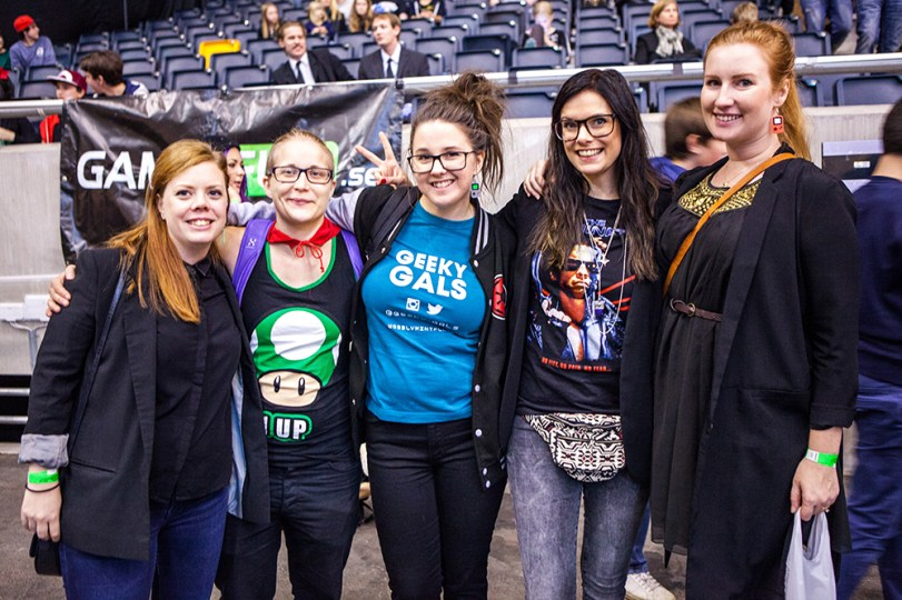 Geeky Gals Becki, Linda, Jinn, Heidi & Mona