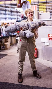 Knitted Firefly ship! - ComicCon Gamex 2015