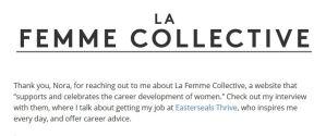 La Femme Collective logo in black text