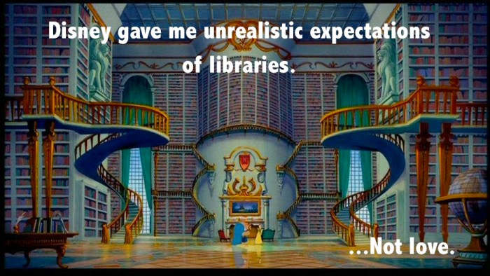 Belle in library meme.