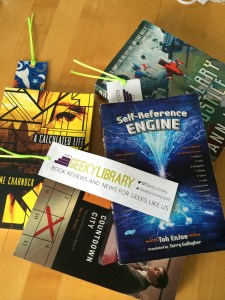 Geeky Books and GeekyLibrary Bookmarks to giveaway!