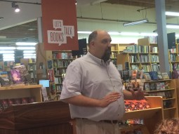 A very engaging author talk with lots of conversational questions from the audience