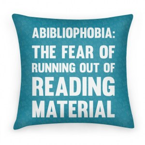 This would have been a cozy pillow for the readathon (Available on Amazon)