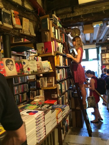 Shakespeare and Company store interior