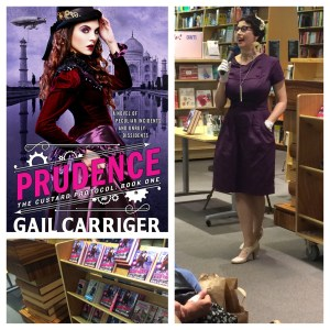 Gail Carriger author Event, promoting Prudence