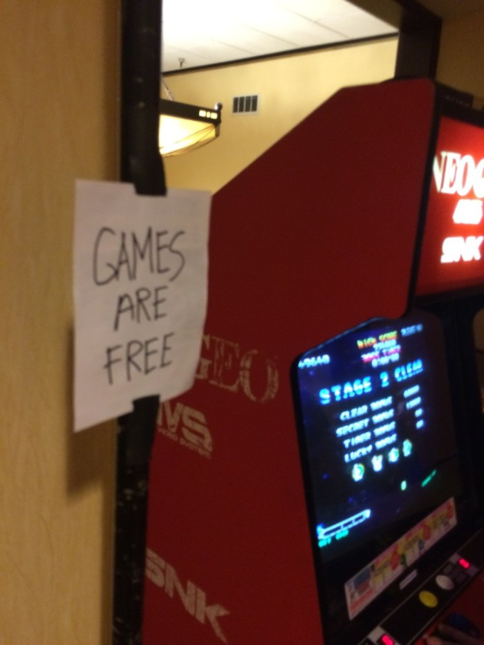 Free video game and pinball!