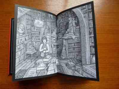 Hugo Cabret inside illustration