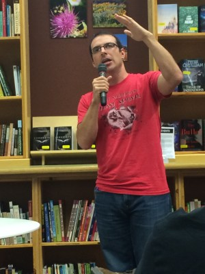During an author event, Bacigalupi talked about writing and drought.